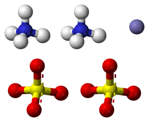 Chemical structure of ammonium sulfate.