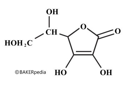 Chemical structure, ascorbic acid, vitamin C, baking ingredient, acid