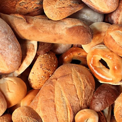 High gluten wheat flour is used for artisan breads to achieve the desired crustiness and chewiness of hearth breads.