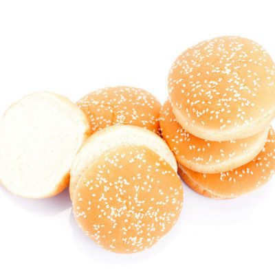 Different types of buns can be used for hamburgers.