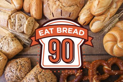 eat bread 90 logo