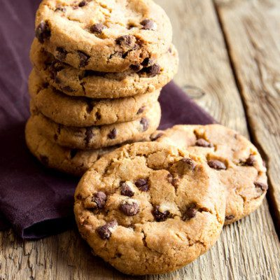Cookies are high in sugar and fat, while low in moisture.