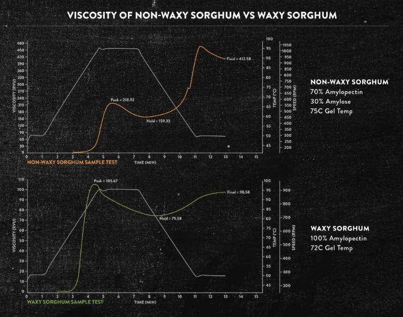 waxy sorghum - sorghum flour - viscosity - gluten-free