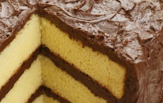 Easy Satin Silver Layer cakes without chlorinated flour.