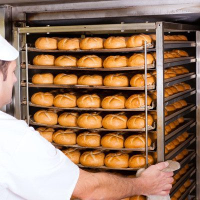 Baking is the final step in making products such as breads, cakes, buns, rolls, crackers and biscuits.