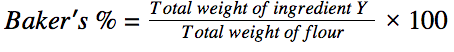 baker's percent equation