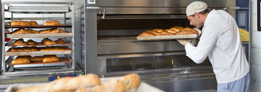 Direct and indirect gas-fired ovens have different uses in bakeries.