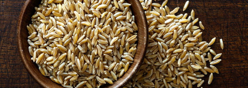 Baking with ancient grains like khorasan wheat can add health benefits like high protein.
