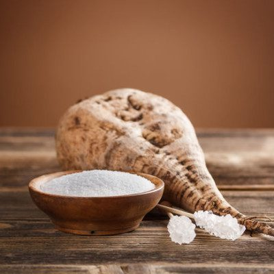 Beet sugar is a sugar by-product extracted from the sugar beet, commonly used in commercial baking.