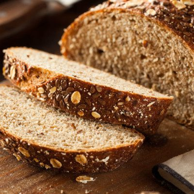 Whole wheat flour is commonly used in bread baking.