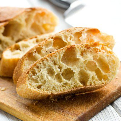 A ciabatta is an italian yeast-leavened artisan and hearth-type bread that is made with a lean formula.