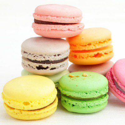 A macaron is a small, delicate, meringue-based French cookie.