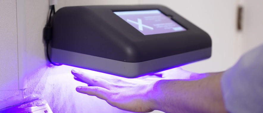 PathSpot is a hands free technology that scans team members hands and instantly detects invisible indicators of bacteria and viruses that cause foodborne illness such as E.coli or Salmonella.