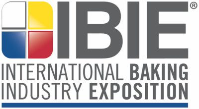 The logo of IBIE 2019, the International Baking Industry Expo.