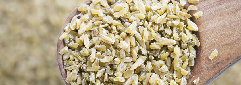 The ancient grain freekeh is fire roasted green wheat with a smoky and nutty flavor.
