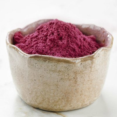 Beet powder is a natural dark red colored food additive that's ideal for clean label foods.