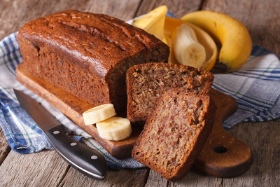 Got those nice brown overly ripe bananas sitting in a corner? PERFECT. This is the best way to use those full flavored mushy bananas! This recipe is so easy to make. Not only will you get a warm delicious loaf, you get to save food from being thrown out as well!