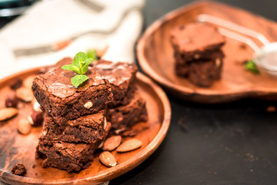 This brownie has a good crunch, together with a chewy texture. It's easy to make, and satisfies that chocolate craving!