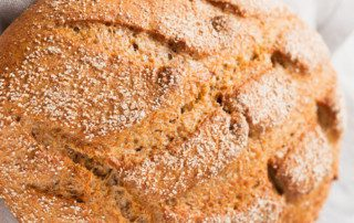 Baking with probiotics in bread and other baked goods.