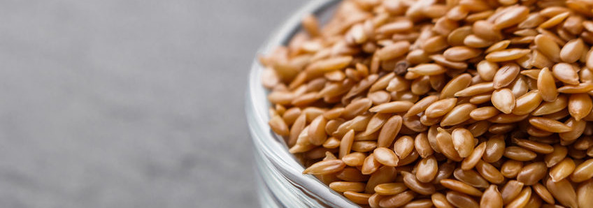 The benefits of baking with flaxseed.