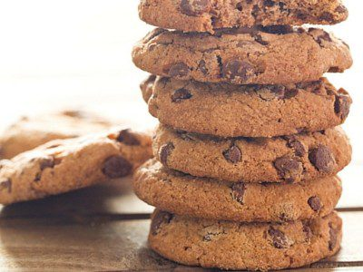 The easiest recipe to make! This cookie recipe has a well controlled spread. If you need a bigger cookie, make sure to flatten it down.