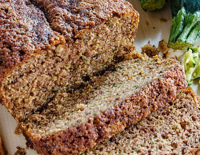 Bread made with zucchini that is healthy and good for the body.