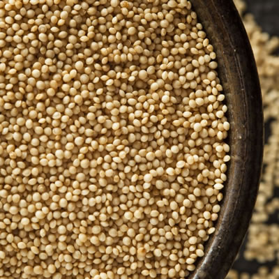 Amaranth flour is made of ground amaranth seeds.