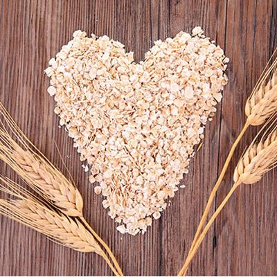 heart-shaped whole oats