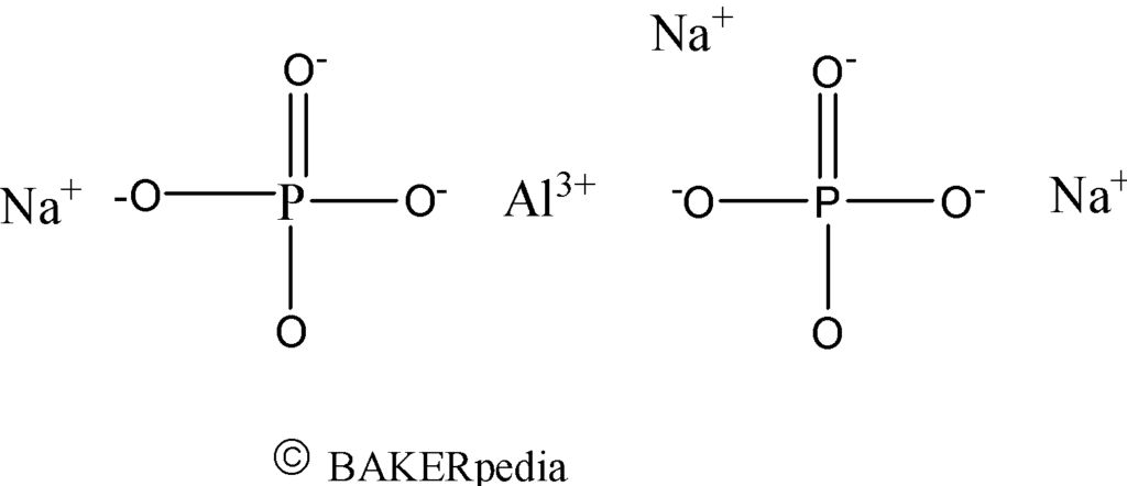 Chemical structure of sodium aluminum phosphate.