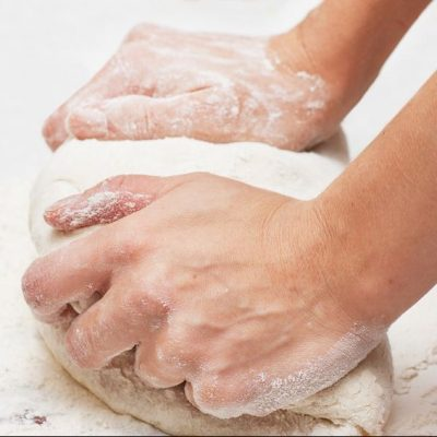 Kneading dough is crucial to dough's structure and elastic texture.