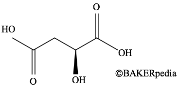 Chemical structure of malic acid.